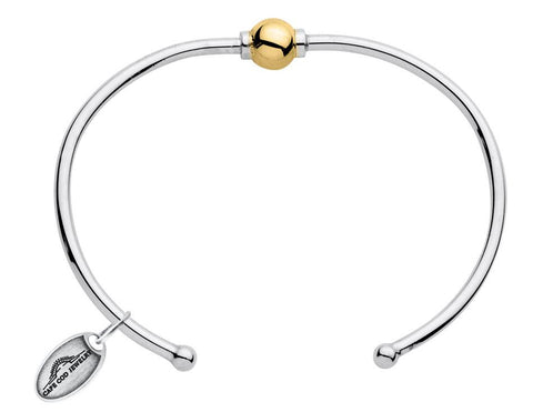 LeStage Cape Cod Sterling Silver Bracelet with 14ky Accent [Single Ball Cuff]