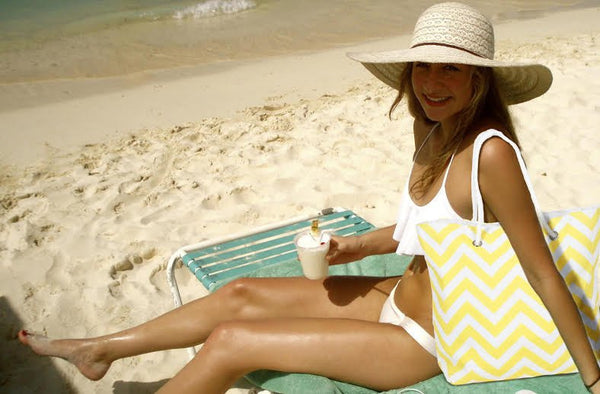 Chevron Beach Tote &  Waterproof Mesh Pool Tote Featured on CBS Atlanta TV!
