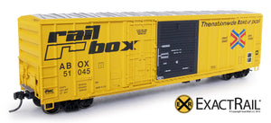 "New! 4 Paint schemes with new road numbers of the FMC 5277 ""Combo Door"" Boxcar"