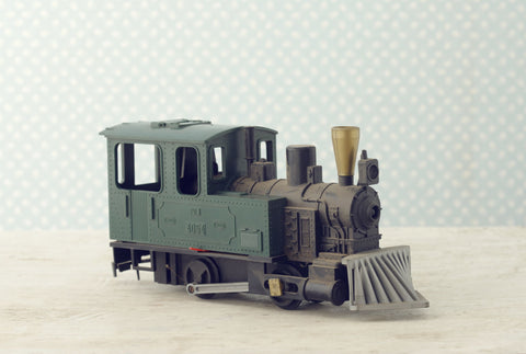 scale model of a locomotive steam train