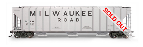 exactrail.com ho scale milwaukee road magor 4750 covered hopper 81005