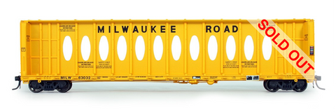 exactrail.com ho scale milwaukee road thrall centerbeam flat car 81105