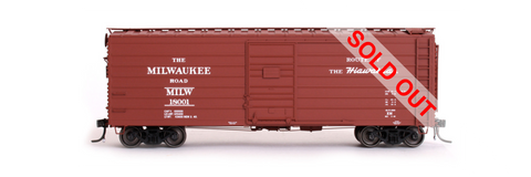 exactrail.com ho scale milwaukee road 40' ribside boxcar 90001