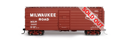 exactrail.com ho scale milwaukee road 40' ribside boxcar 90003