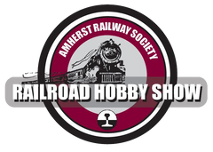 amherst railroad hobby show logo