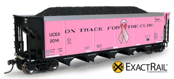 HO Scale Autoflood II 'On Track for the Cure' Breast Cancer Model Train