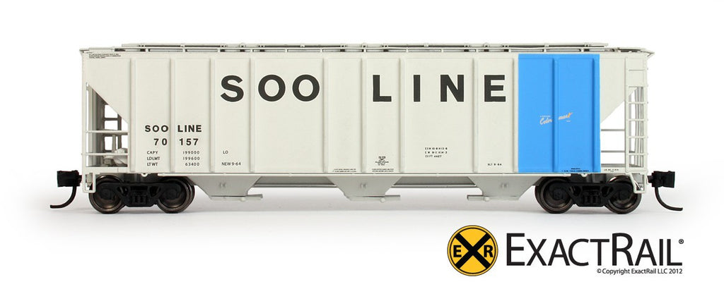 SOO Line PS-2CD 4427 Covered Hopper N-Scale Model Train