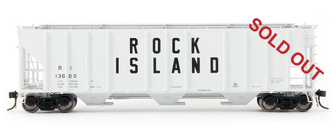 exactrail.com ho scale ps-2cd 4427 covered hopper rock island 80155