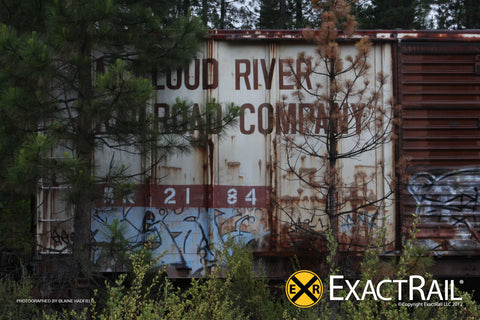 McCloud Railroad Boxcar Close up