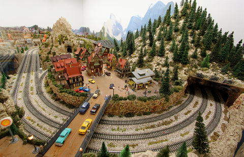 model railroad landscape