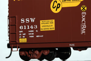 HO Scale: PC&F 6033 Boxcar : SSW - ExactRail Model Trains - 4