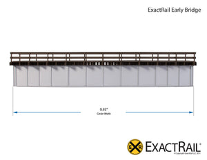 72' Deck Plate Girder Bridge, Wood Handrails : N&W - ExactRail Model Trains - 6