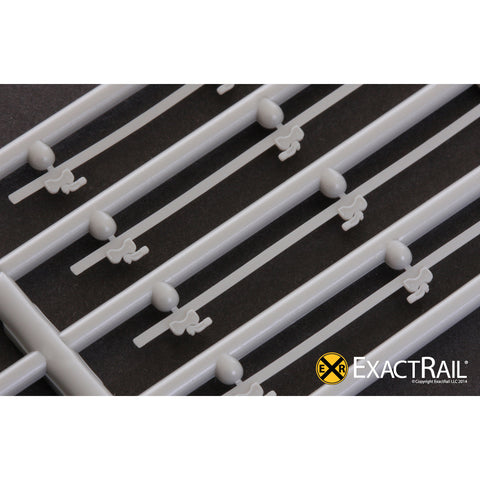 HO Scale Details: Door tracks, double 8' plug door