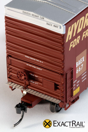 X - PC&F 6033 cu. ft. Hy-Cube Box Car : BAEX - ExactRail Model Trains - 5