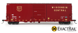 X - PC&F 6033 cu. ft. Hy-Cube Box Car : WC - ExactRail Model Trains - 2