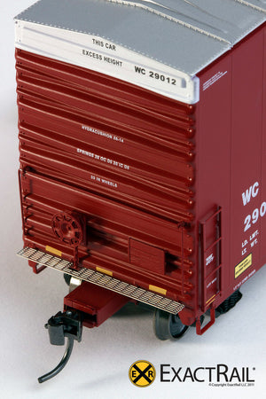 X - PC&F 6033 cu. ft. Hy-Cube Box Car : WC - ExactRail Model Trains - 5