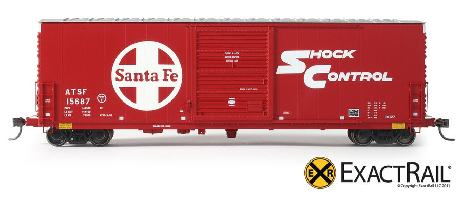 HO Scale: PC&F 6033 cu. ft. Hy-Cube Box Car - ATSF