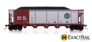 Johnstown America AutoFlood II Coal Hopper : BNSF - Brown - ExactRail Model Trains - 2