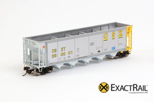 X - Johnstown America AutoFlood II Coal Hopper : CSXT (4-pack) - ExactRail Model Trains - 2