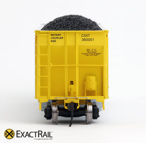 X - Johnstown America AutoFlood II Coal Hopper : CSXT (4-pack) - ExactRail Model Trains - 6