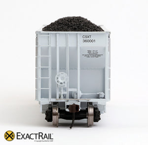 X - Johnstown America AutoFlood II Coal Hopper : CSXT (4-pack) - ExactRail Model Trains - 7