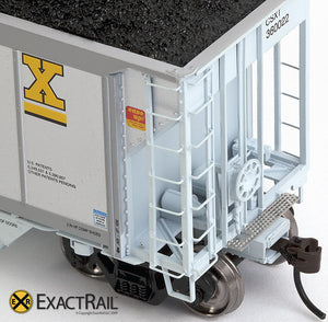 X - Johnstown America AutoFlood II Coal Hopper : CSXT (4-pack) - ExactRail Model Trains - 8