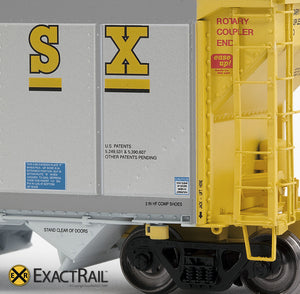 X - Johnstown America AutoFlood II Coal Hopper : CSXT (4-pack) - ExactRail Model Trains - 9