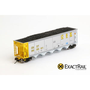 HO Scale: Johnstown America AutoFlood II Hopper - CSXT (4-pack)