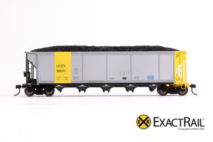 X - Johnstown America AutoFlood II Coal Hopper : UCEX (4-pack) - ExactRail Model Trains - 2