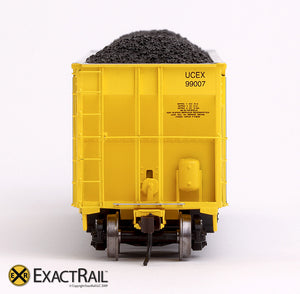 X - Johnstown America AutoFlood II Coal Hopper : UCEX (4-pack) - ExactRail Model Trains - 5