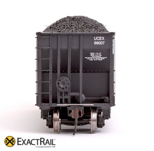X - Johnstown America AutoFlood II Coal Hopper : UCEX (4-pack) - ExactRail Model Trains - 6