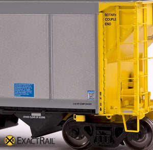 X - Johnstown America AutoFlood II Coal Hopper : UCEX (4-pack) - ExactRail Model Trains - 8
