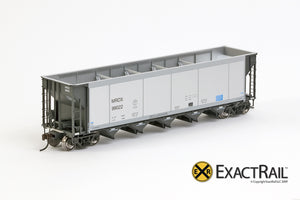 X - Johnstown America AutoFlood II Coal Hopper : MRDX (4-pack) - ExactRail Model Trains - 2
