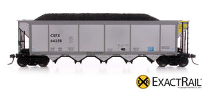 Johnstown America AutoFlood ll Coal Hopper : CEFX - ExactRail Model Trains - 2