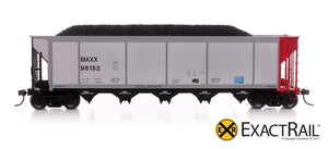 Johnstown America AutoFlood ll Coal Hopper : MAXX - ExactRail Model Trains - 2