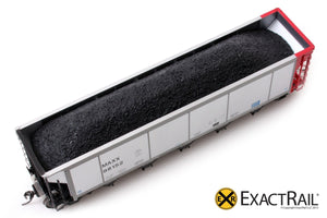 Johnstown America AutoFlood ll Coal Hopper : MAXX - ExactRail Model Trains - 3