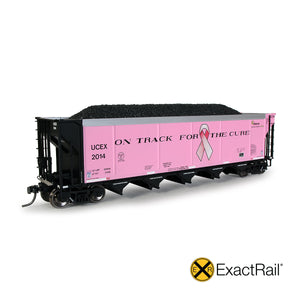HO Scale: Johnstown America AutoFlood II Hopper - UCEX - 'On Track for the Cure.'