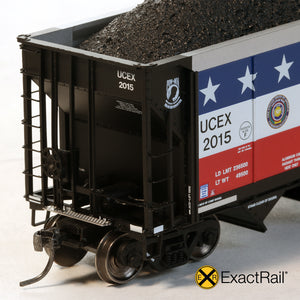 HO Scale: Johnstown America AutoFlood II Hopper - UCEX - 'Military Veteran'