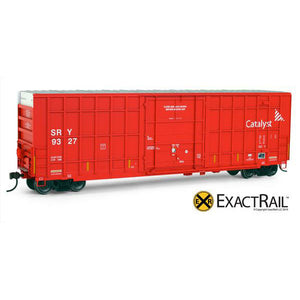 HO Scale: Trinity 50' Hy-Cube Box Car - SRY (Red)