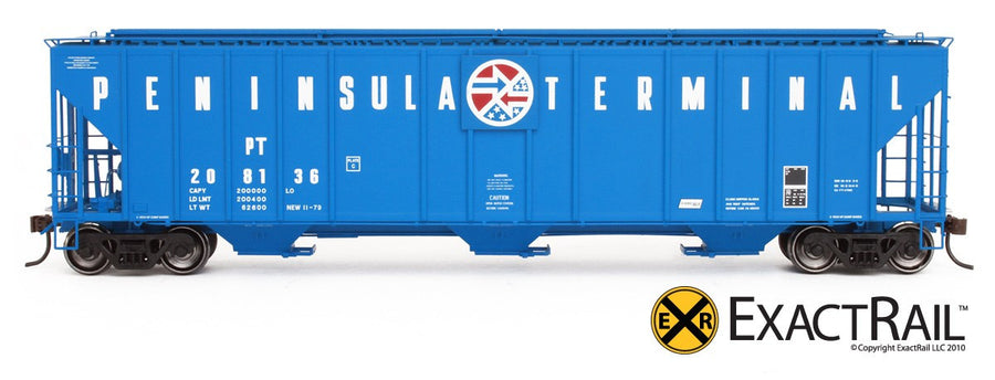 HO Scale: Evans 4780 Covered Hopper - Peninsula Terminal