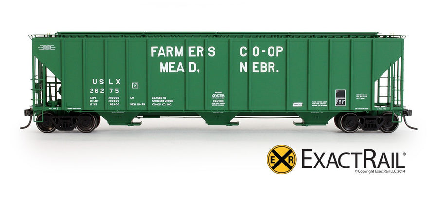 HO Scale: Evans 4780 Covered Hopper - Mead Neb/USLX