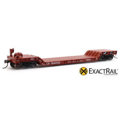 HO Scale: X - 48' Depressed Center Flat Car - CR