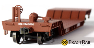 X - 48' Depressed Center Flat Car : SOU - ExactRail Model Trains - 4