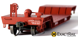 X - 48' Depressed Center Flat Car : ATSF - ExactRail Model Trains - 4