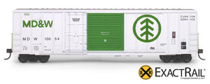 X - FMC 5277 Combo Door Box Car : MDW - ExactRail Model Trains - 2