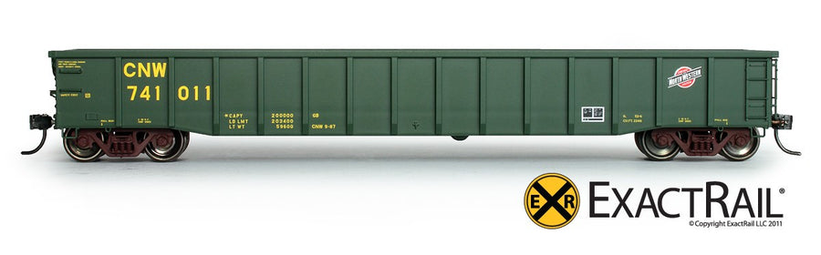 HO Scale: Thrall 2244 15-Panel Gondola - Heavy Top Chord - Chicago North Western