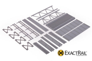 HO Scale: 30' Deck Plate Girder Bridge : Undecorated Kits - ExactRail Model Trains - 3