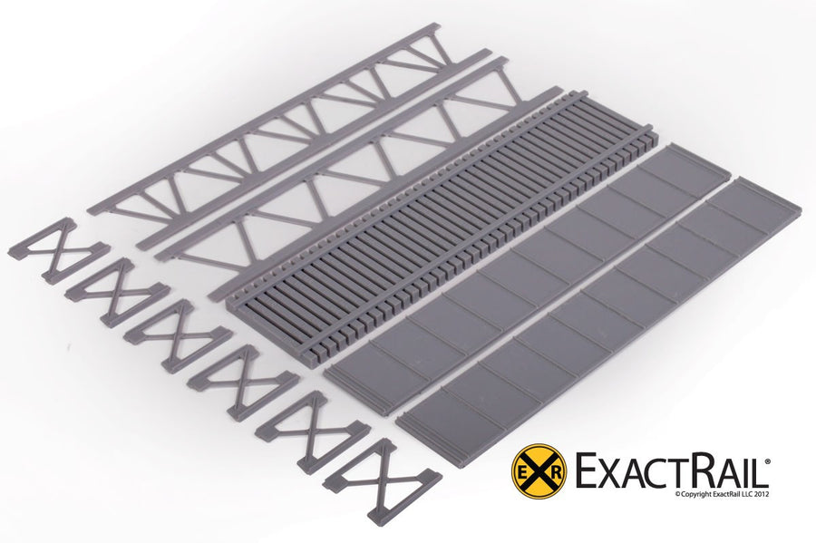 HO Scale: 50' Deck Plate Girder Bridge - Undecorated Kits
