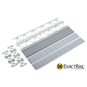 HO Scale: 72' Deck Plate Girder Bridge - Undecorated Kits