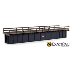 HO Scale: 72' Deck Plate Girder Bridge: Wood Handrails - MILW